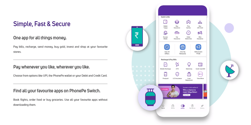 how to change bank account on phonepe